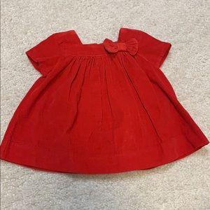 NWT Baby Gap Red corduroy dress. 0-3M